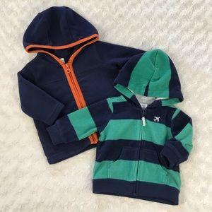 Carter's Light Fleece Jacket Bundle Hooded 3 Month